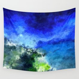 Victimized For Light Sky Blue Wall Tapestry