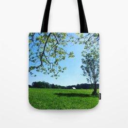 Green Field Tote Bag