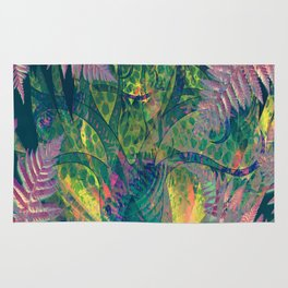 Abstract Floral Fern Tree Fairyland Rug