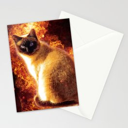 Flame Cat Stationery Cards