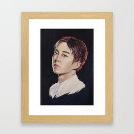 MONSTER - Xiumin Framed Art Print