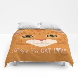 Allergy Free Cat Love: Ginger Tabby Comforters