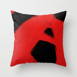 Midnight Red Abstract Art Poster Limited Edition Print by Robert R Splashy ART Throw Pillow