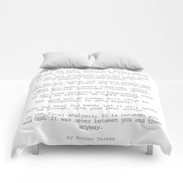 Do It Anyway by Mother Teresa #minimalism #inspirational Comforters