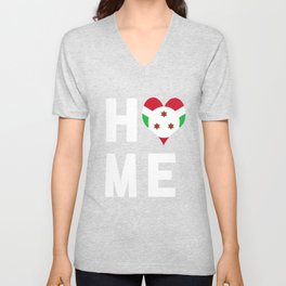 Burundi Is My Home Tee Shirt Unisex V-Neck