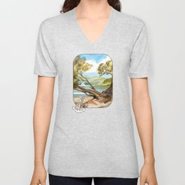Summer At Coopers Beach Unisex V-Neck