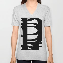 Hidden Letters. Baskerville P Unisex V-Neck