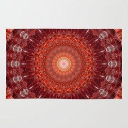 Mandala red no. 2 Rug