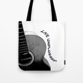Acoustic Guitar, Live Unplugged Tote Bag
