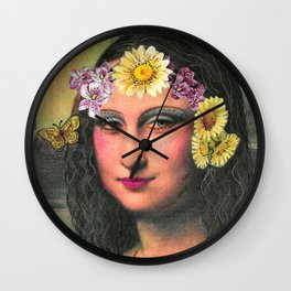 Hippie Gioconda Wall Clock