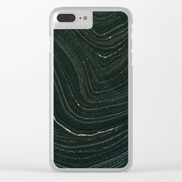 Black and Gold Clear iPhone Case