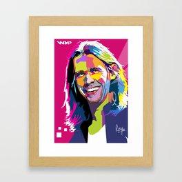 Myles Kennedy Smile WPAP Framed Art Print