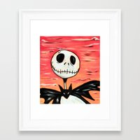 jack skellington Framed Art Prints featuring Jack Skellington by MSG Imaging