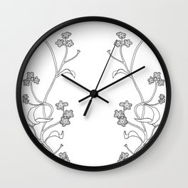 forget me never Wall Clock