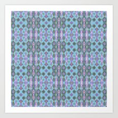 Ornate Blues Art Print