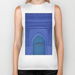 Islamic Architecture Blue Turquoise Secret Doorway Beautiful Engravings Biker Tank