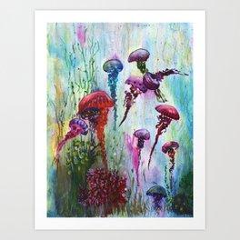 jolly jellyfish Art Print
