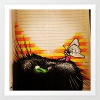 Cat Tax Art Print