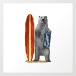 Polar Surfer Kunstdrucke