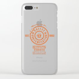 Coffee & Contemplation Clear iPhone Case