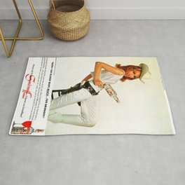 Vodka Martini - Julie Newmar Cowgirl, Martini Vintage Poster - Art Print - Vintage Advertisement Poster Retro Artwork Rug