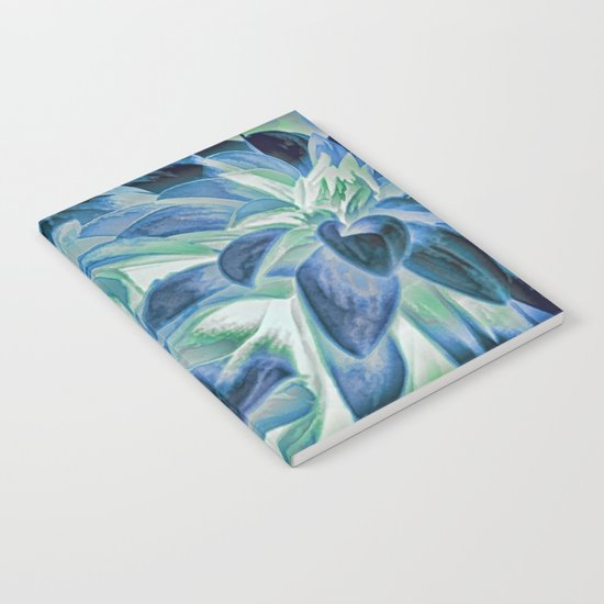 Midnight Floral Abstract Notebook