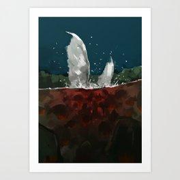 Piranhas Art Print