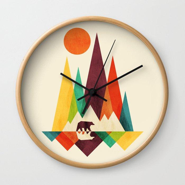 Bear In Whimsical Wild Wall Clock