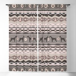Airedale Terrier Decorative Pattern in pastels Blackout Curtain