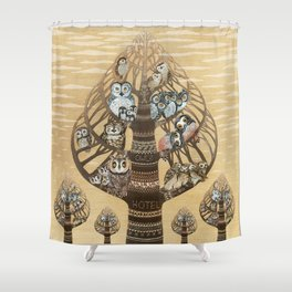 Owl Hotel Shower Curtain