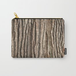 Wood bark Carry-All Pouch
