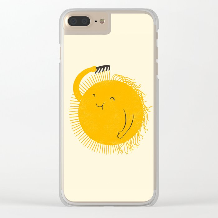 Here comes the sun Clear iPhone Case