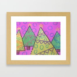 Holiday Trees Framed Art Print