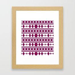 Marsala Tribal Pattern Framed Art Print