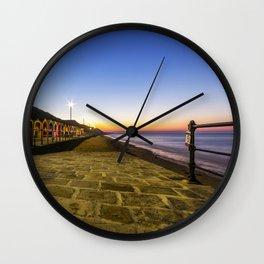 Saltburn in the evening light Wall Clock