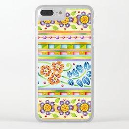 Parterre Botanique Clear iPhone Case