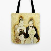 marx Tote Bags featuring MARX BROTHERS - 004 by Lazy Bones Studios