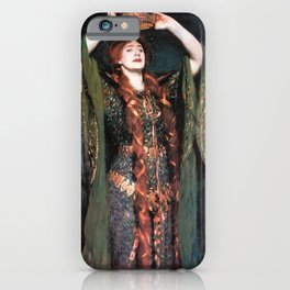 Ellen Terry at Lady MacBeth by John Singer Sargent - Vintage Fine Art Oil Painting iPhone Case