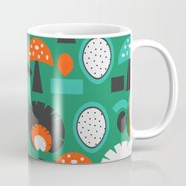 Funny mushrooms in green Coffee Mug