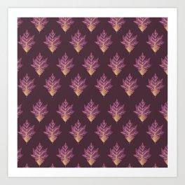 Autumn royal pattern Art Print