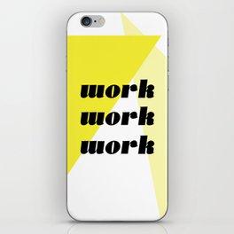 work iPhone Skin