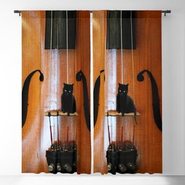 Black Cat And Violin #decor #society6 Blackout Curtain