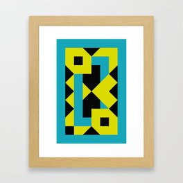 There is a Green Geometric Heart Somewhere, and some other Things Framed Art Print