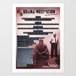 Boxing Motivation, Gym Decor Art Print
