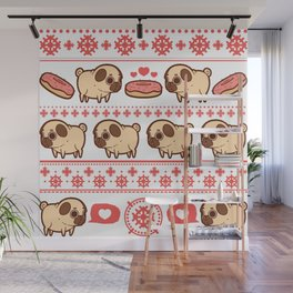 Puglie Christmas Sweater (Red) Wall Mural