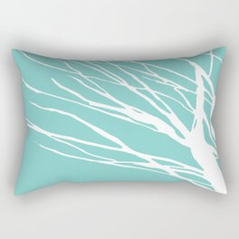 Cyan Blues Rectangular Pillow