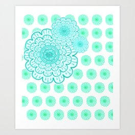 seafoam & blueeeey Art Print