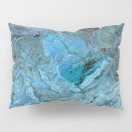 Oceania Teal & Blue Marble Pillow Sham