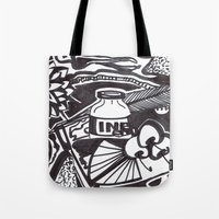 writer Tote Bags featuring Food writer by ABBY SNATCH