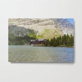 Image USA Swiftcurrent Lake Glacier National Park Montana Hotel Nature Parks forest park Forests Metal Print